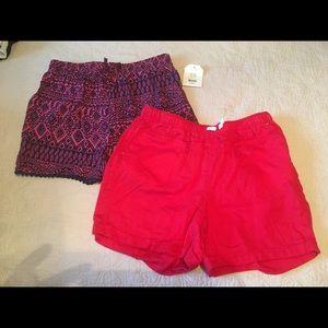 Faded Glory girls XL shorts lot